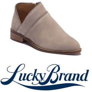 LUCKY BRAND Grey Ankle Boots Perrma Bootie